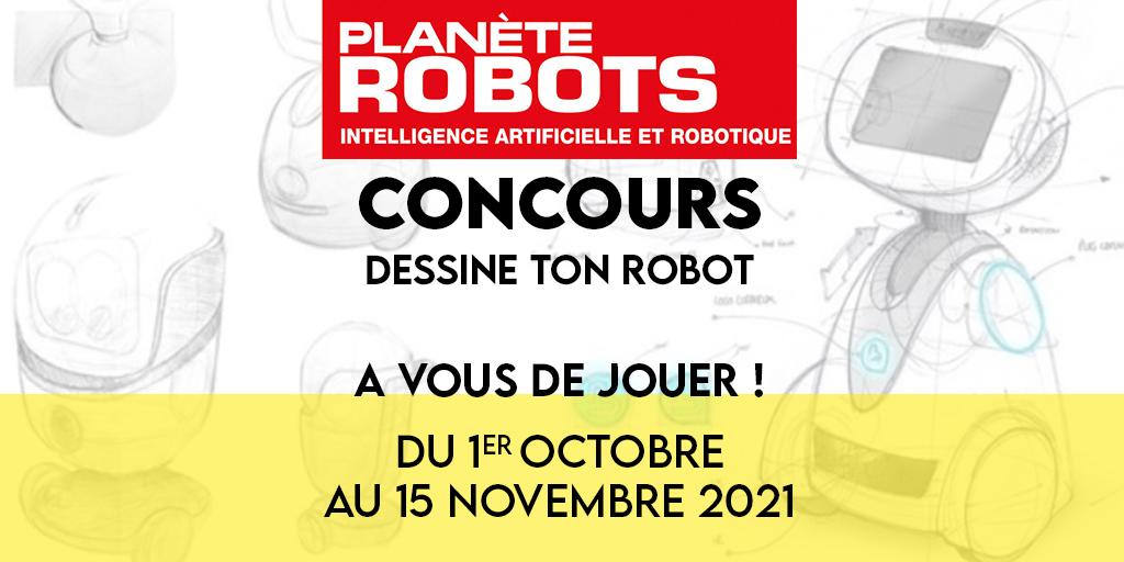 Affiche du concours Dessine ton robot