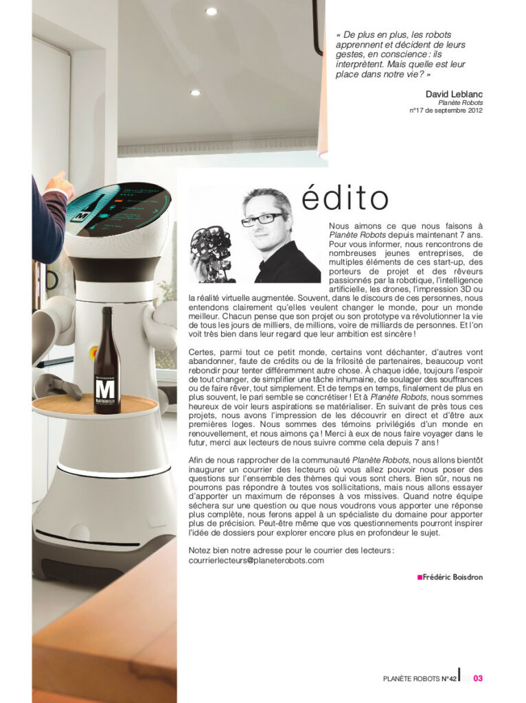 Edito Planete Robots 42