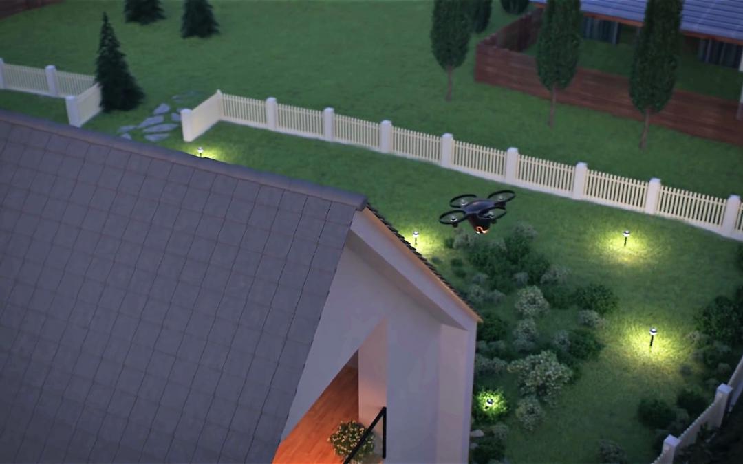un drone pour surveiller votre maison plan te robots. Black Bedroom Furniture Sets. Home Design Ideas
