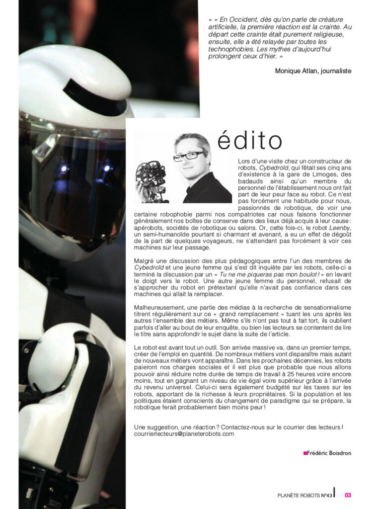 Edito Planete Robots 43