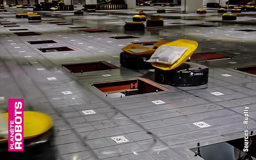 À quelle vitesse fonctionne votre centre de tri ? Euh… 200 000 paquets par jour … Pourquoi ?