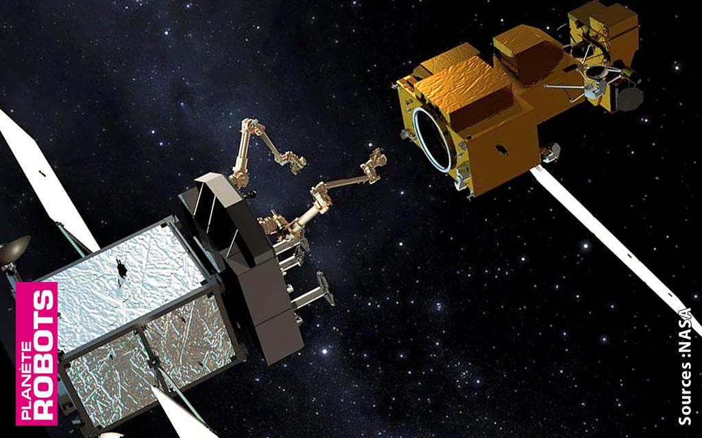 Les premiers robots dépanneurs de l'espace