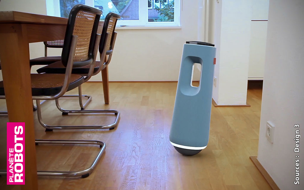 Carl Un nouveau concept de robot de sécurité pour votre maison