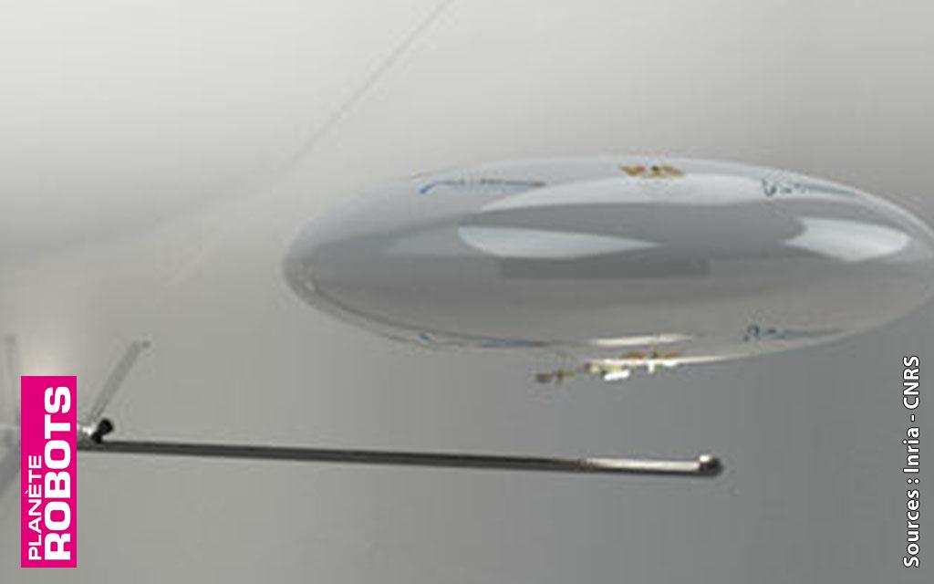 Un robot archéologue volant dans Kheops