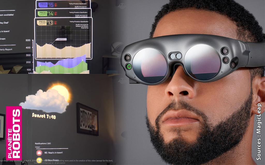 Les lunettes de A.R. Magic Leap ont le fond et la forme