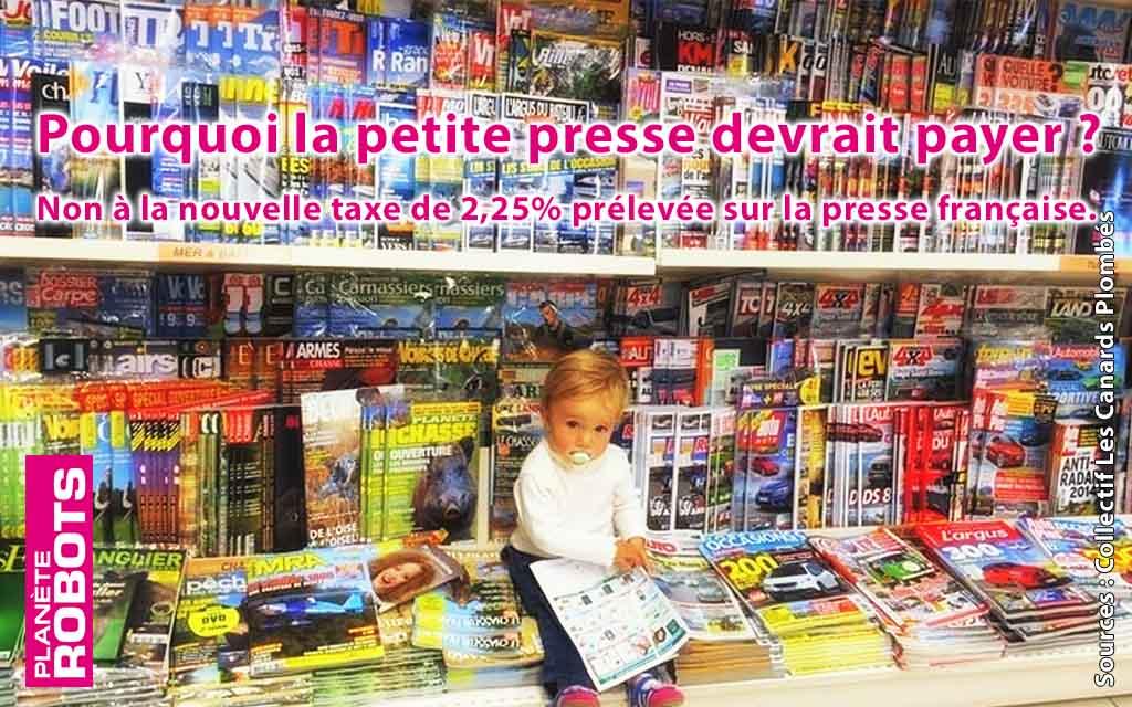 Non à la nouvelle taxe sur la presse française