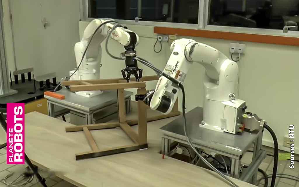 Un meuble IKÉA à monter ? Le NTU et ses robots sont là