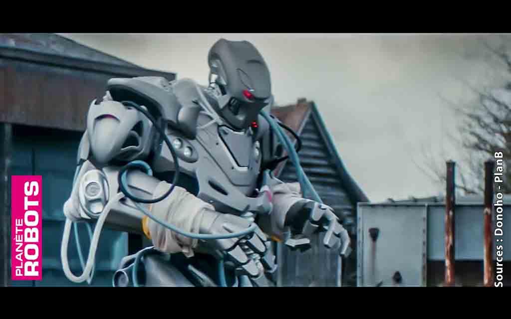 Un robot désherbeur français dans un clip de PlanB