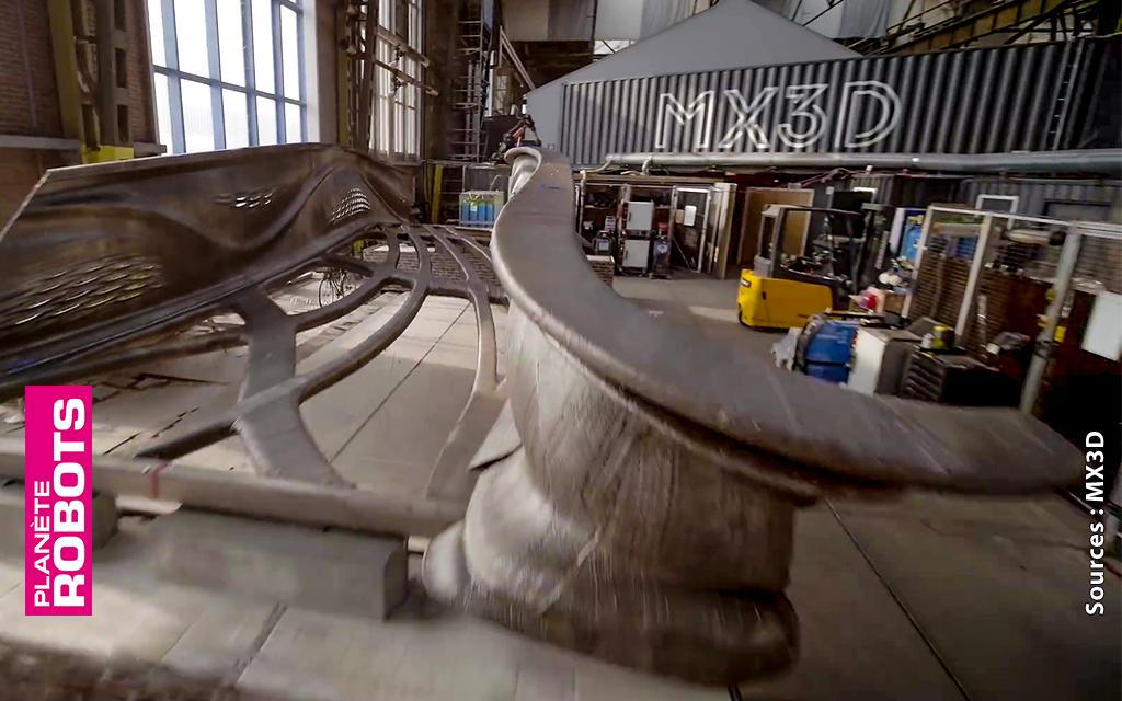 Le pont imprimé en 3D par MX3D bientôt terminé
