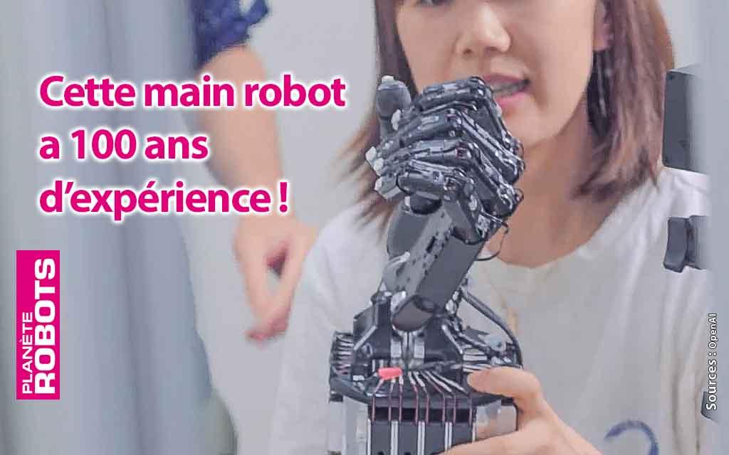 Une main robot centenaire !
