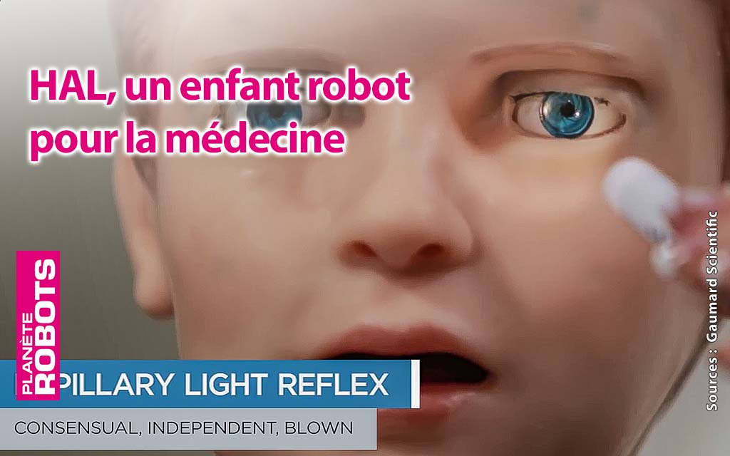 Ce robot Hal est un enfant robot qui se fait porter pâle.