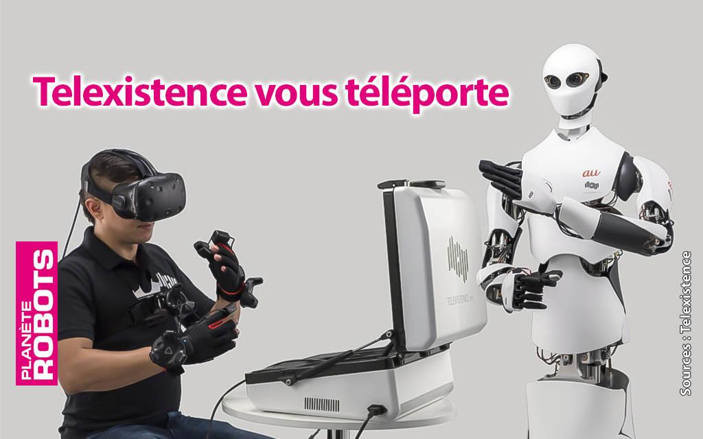 Telexistence associe robot humanoïde et V.R