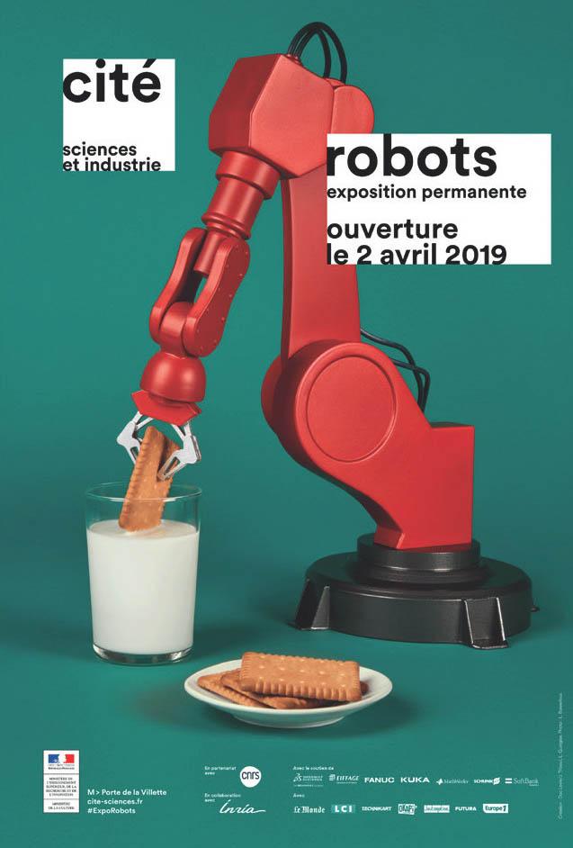 Affiche de l'exposition robots de la cité des sciences et de l'industrie