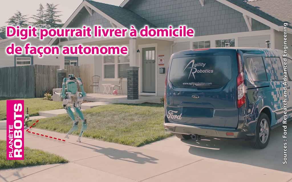 L'humanoïde Digit, d'Agility Robotics, livre pour Ford