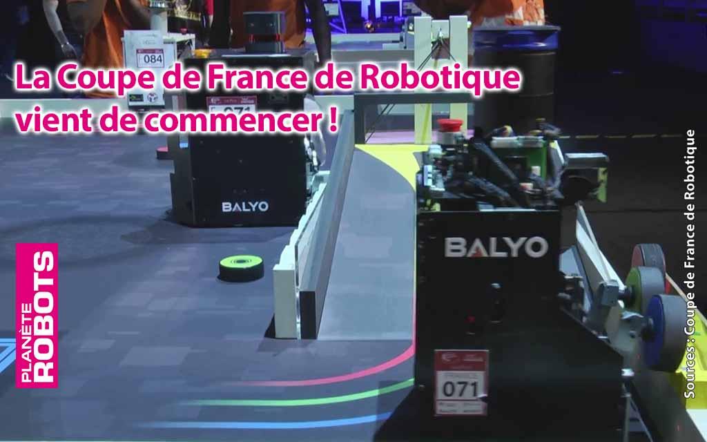 La coupe de France de robotique 2019 vient de commencer.