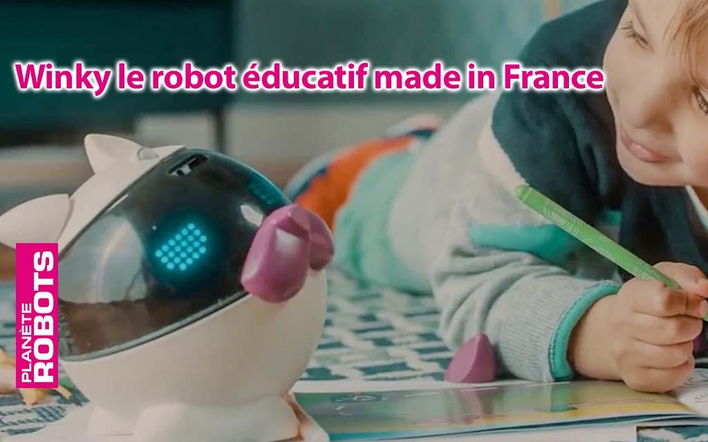 Winky le robot éducatif fabriqué en France