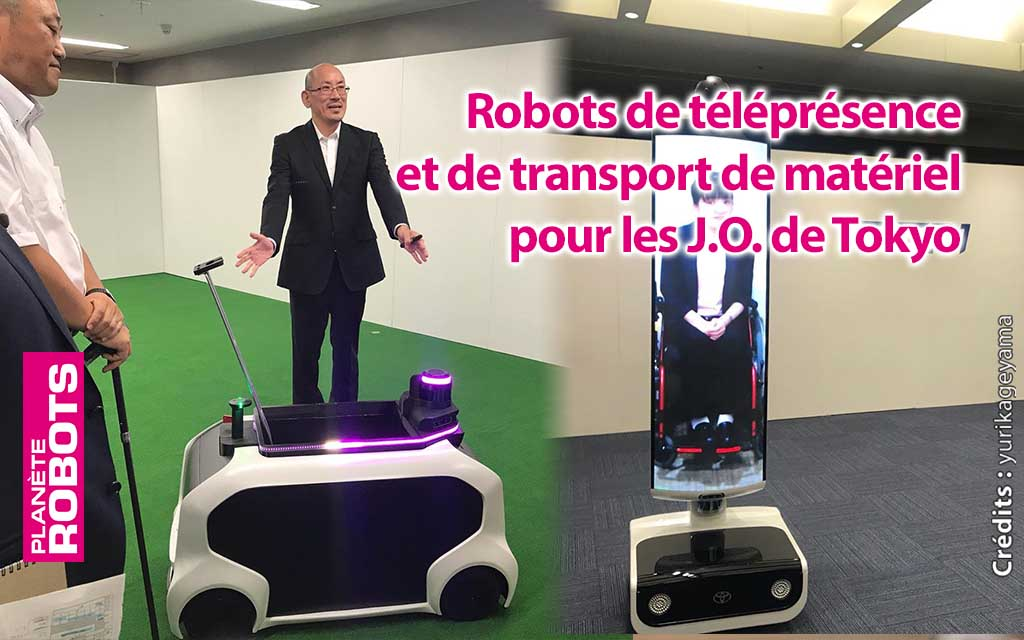 Des robots dans les tribunes et sur les terrains des Jeux olympiques de Tokyo