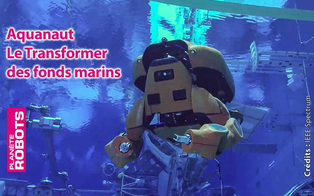 À moitié humanoïde, Aquanaut travaille dans le fond des océans