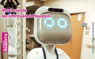 Moxi en fait un maximum pour aider les infirmières au Texas !