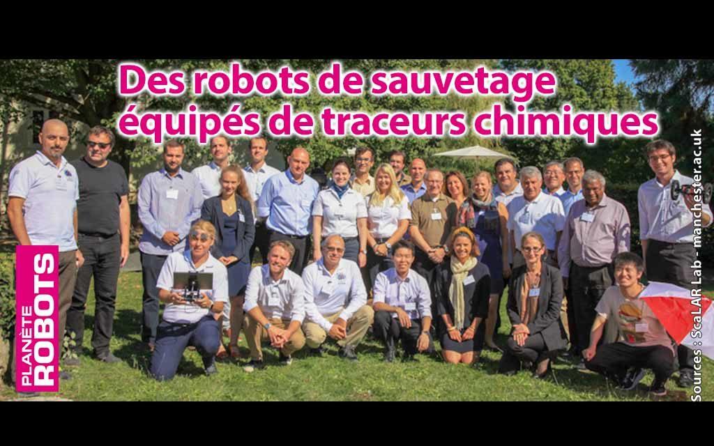 Des robots de recherche et sauvetage entrainés au traçage chimique