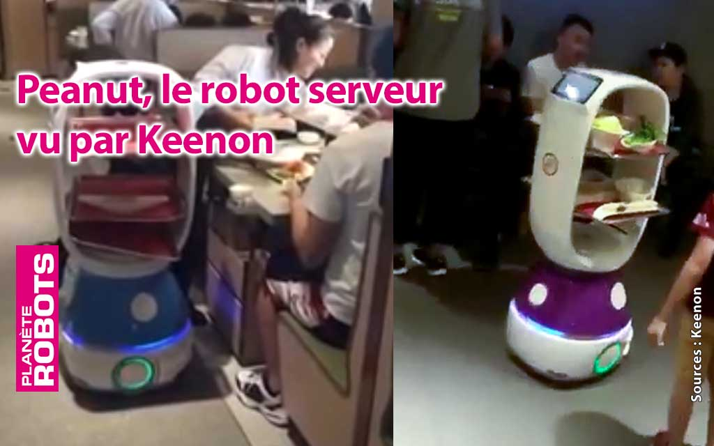 Le robot serveur Peanut du géant chinois de la robotique de service